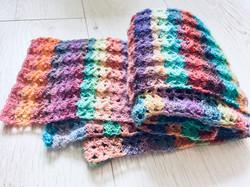 pastel sparkle scarf