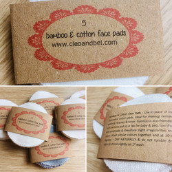 bamboo and cotton reusable face pads