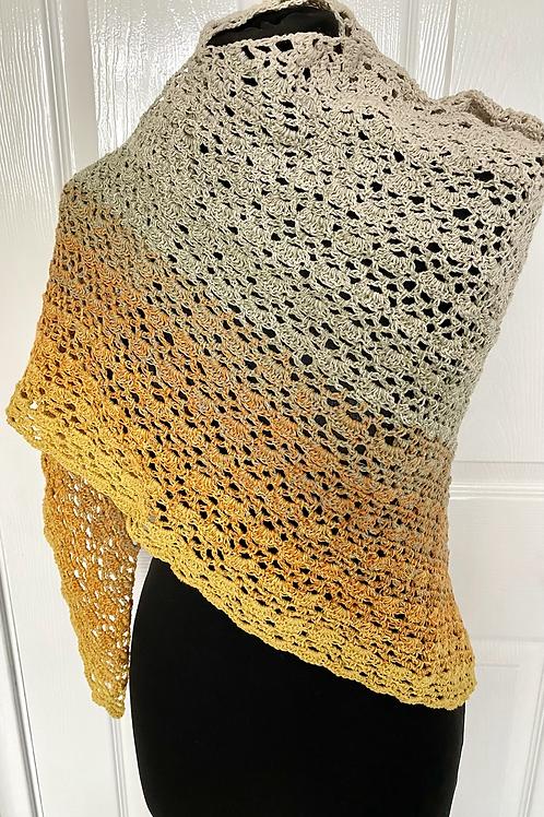 Lacy triangular shawl