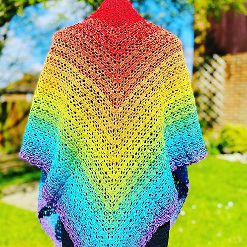 Rainbow shawls
