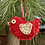 Thumbnail: Scandi bird Xmas decoration