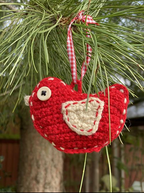 Scandi bird Xmas decoration