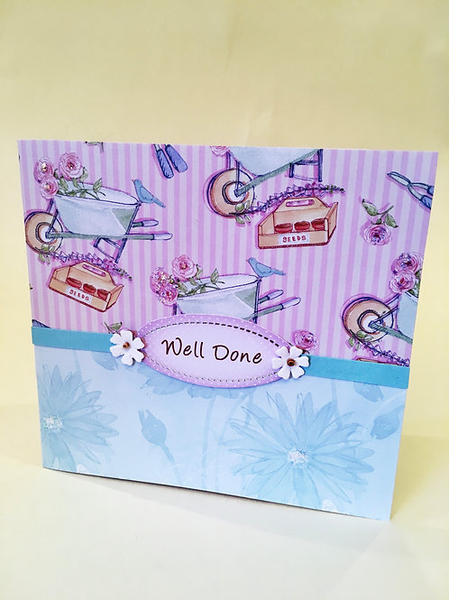 Handmade 'Well Done' card