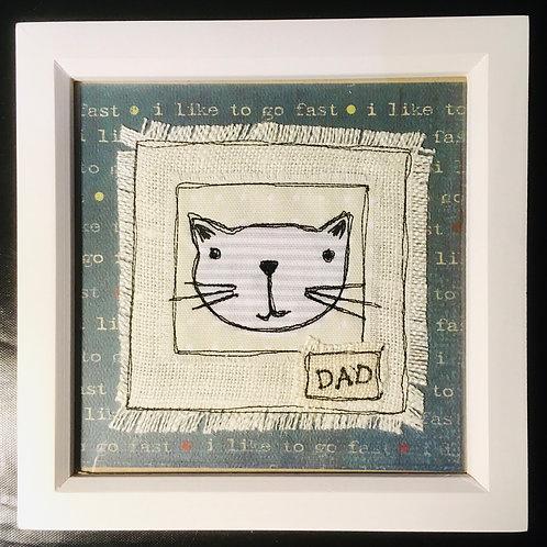 'Dad' cat frame