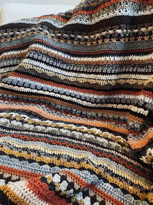 Winter lockdown browns/neutrals blanket