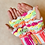 Thumbnail: Pretty shell rainbow fingerless mittens