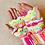 Thumbnail: Pretty shell rainbow fingerless mittens