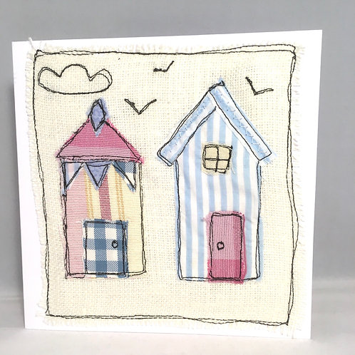 Beach hut material cards cards