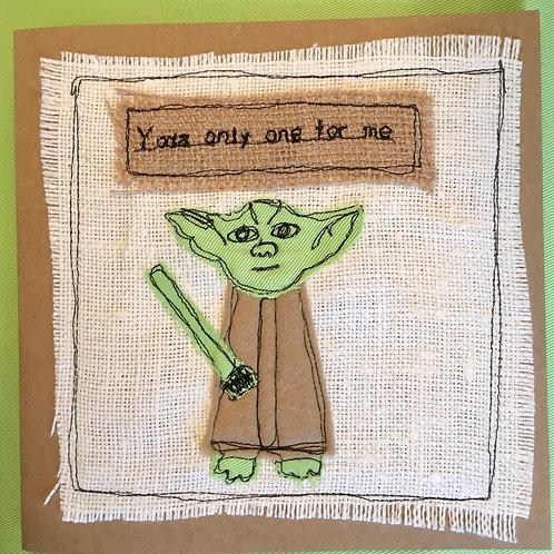 'Yoda' Star Wars Valentines Card