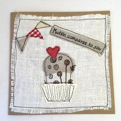 'Muffin Compares to You' Valentines card