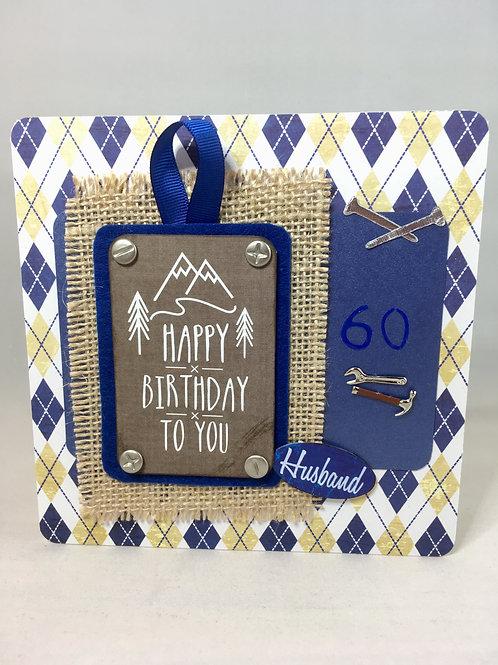 Husband 60th card