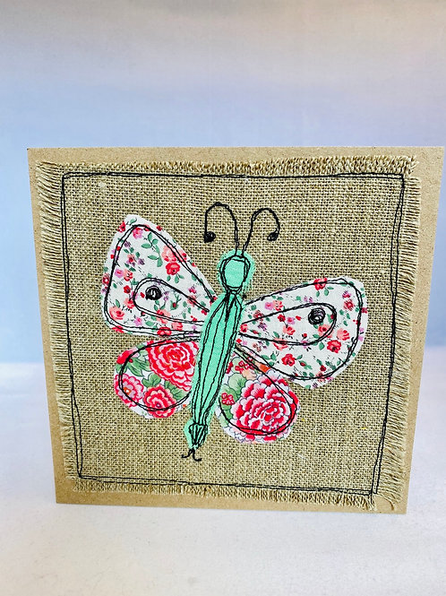Butterfly material cards - All Occasion (blank)