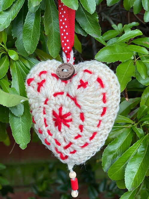 Scandi heart, tree & ruby slippers decorations