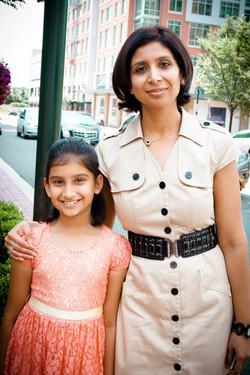 01- Parul (mother)  & Sachika (daughter)_