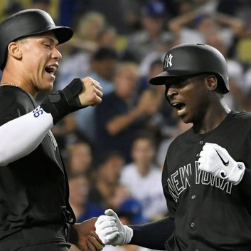 Yankees beat up on Dodgers to start off Players Weekend