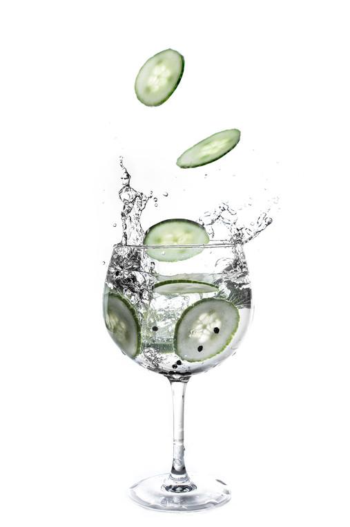 Drink splash composite photography