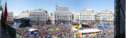 Panoramic photography Madrid sol