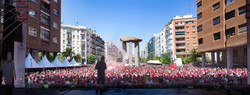 Panoramic photography liverpool fanzone madrid 2019