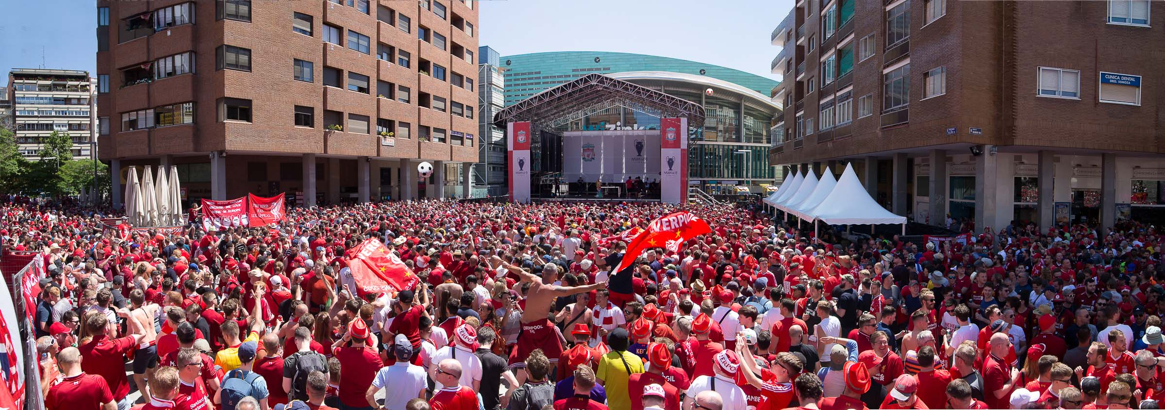 PANORAMA LIVERPOOL FANZONE UEFA MADRID 2