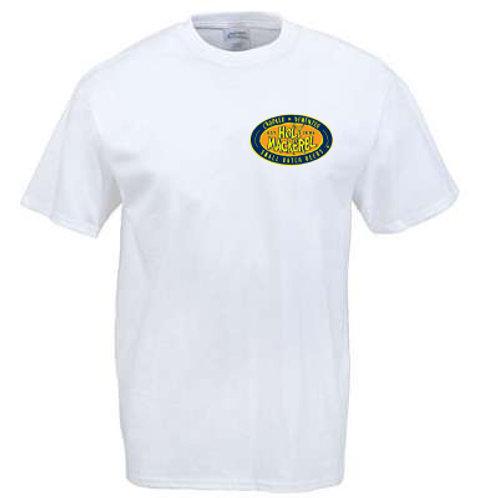 Holy Mackerel t-shirt with logo