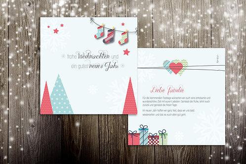 """Weihnachtskarte """"Mountain"""""""