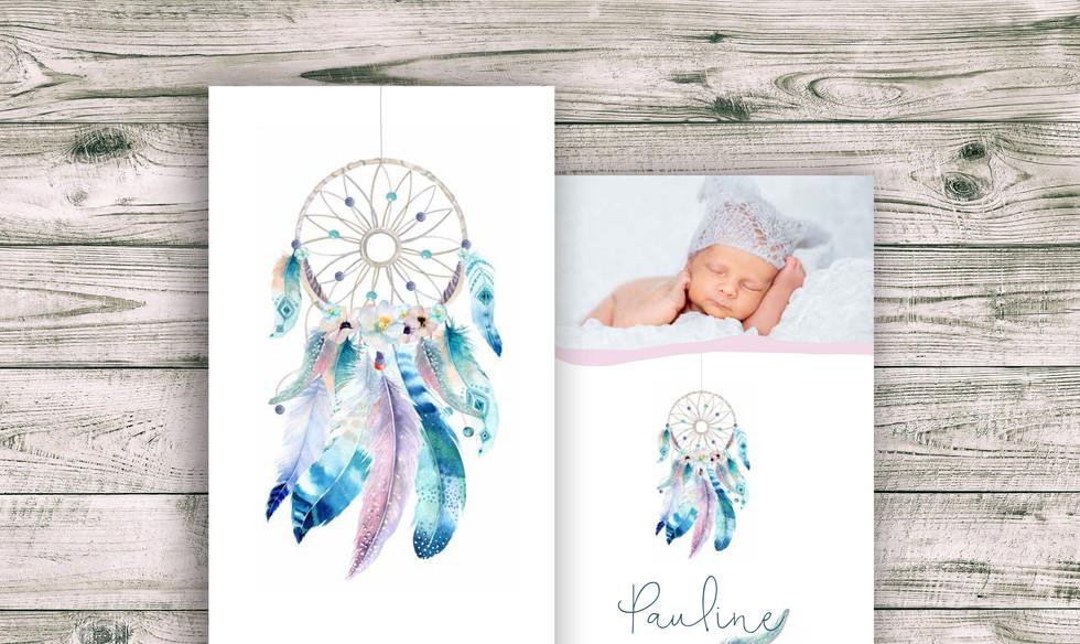 Geburtskarten, Hochzeitskarten, Geburtskarte Pauline mit Glanzeffekt  | Schweiz | online bestellen