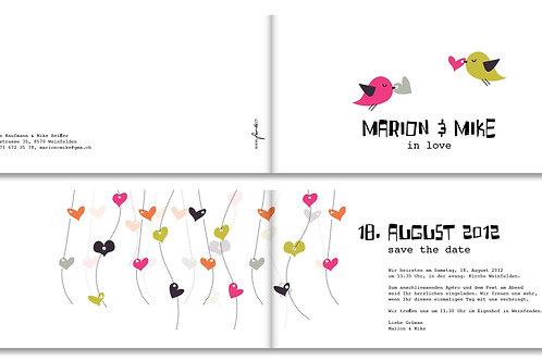 Hochzeitskarte Marion-Mike