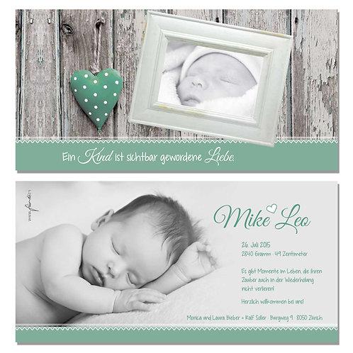 Geburtskarte Mike Leo