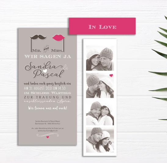 moderne Hochzeitseinladung für Ihren Traumtag