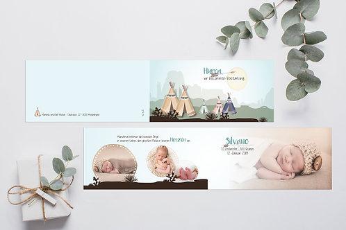 Geburtskarte Silvano