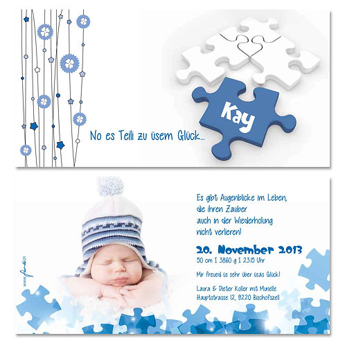 Geburtskarte Kay