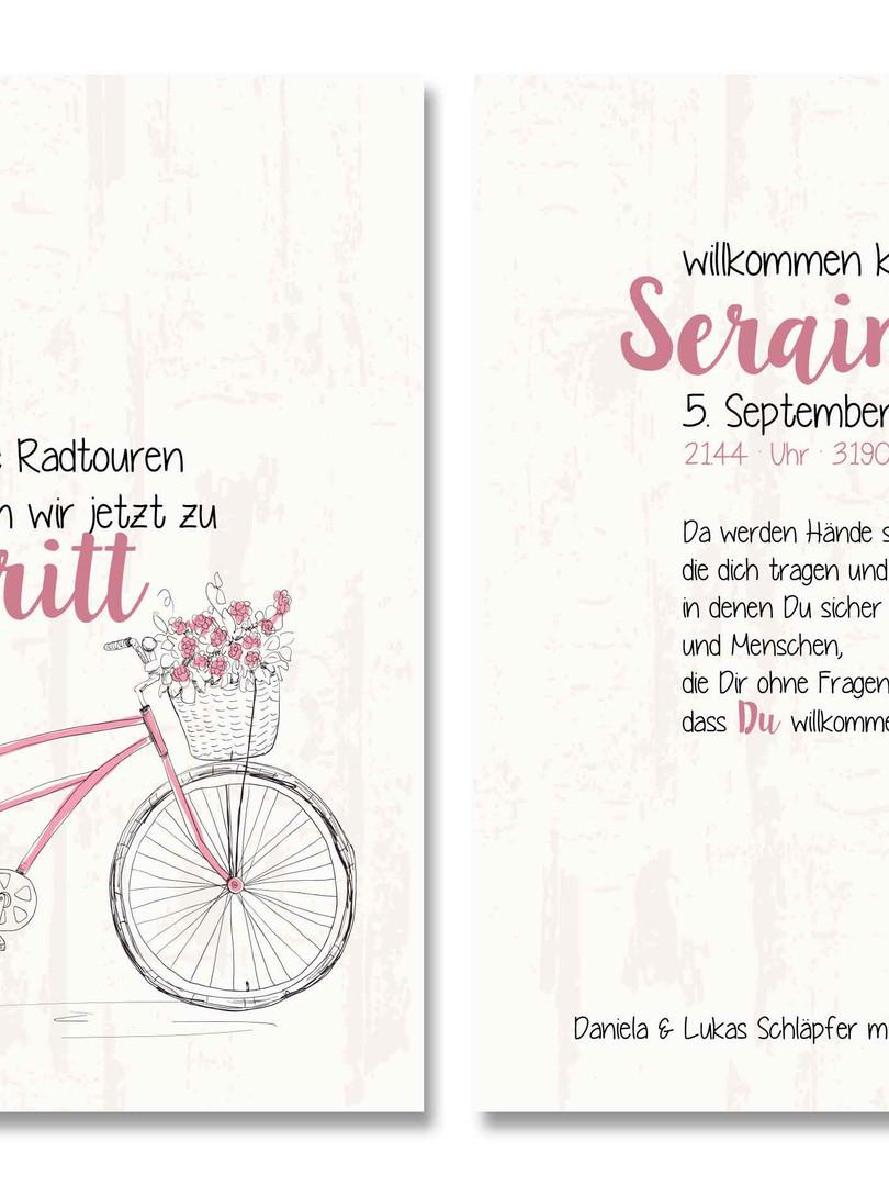 Geburtskarte Seraina von für Ihren kleinen Schatz von fuer-di.ch