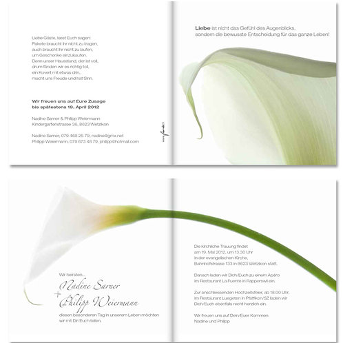 Hochzeitskarte Nadine-Philipp