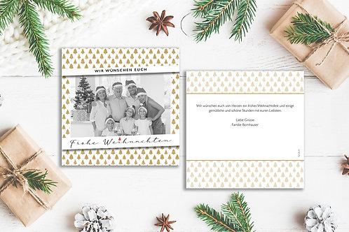 """Weihnachtskarte """"Tannenwald"""""""
