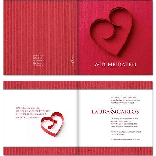 Hochzeitskarte Laura-Carlos