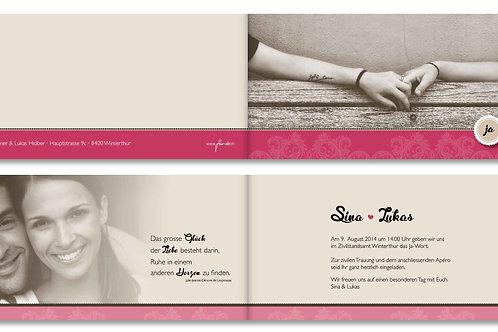 Hochzeitskarte Sina-Lukas