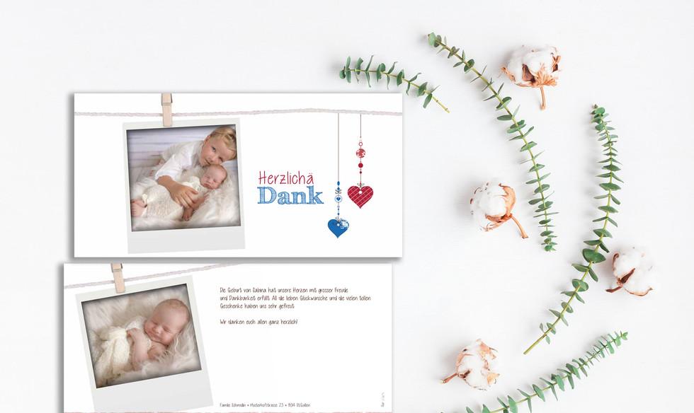 Geburtskarten, Hochzeitskarten, Dankeskarten  | Schweiz | online bestellen