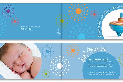 Geburtskarte Joel Marius