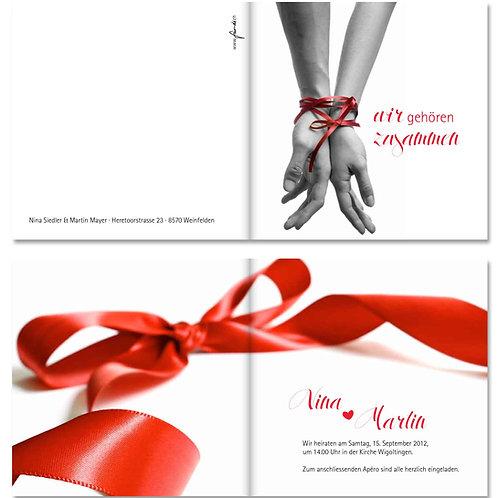 Hochzeitskarte Nina-Martin