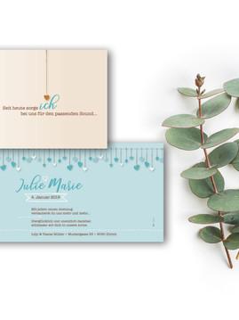 zauberhafte Geburtskarte Julie Marie