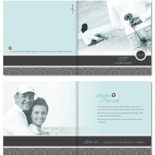 Hochzeitskarte Linda-Patrick