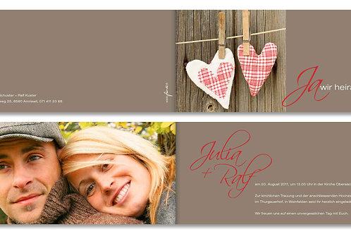 Hochzeitskarte Julia-Ralf