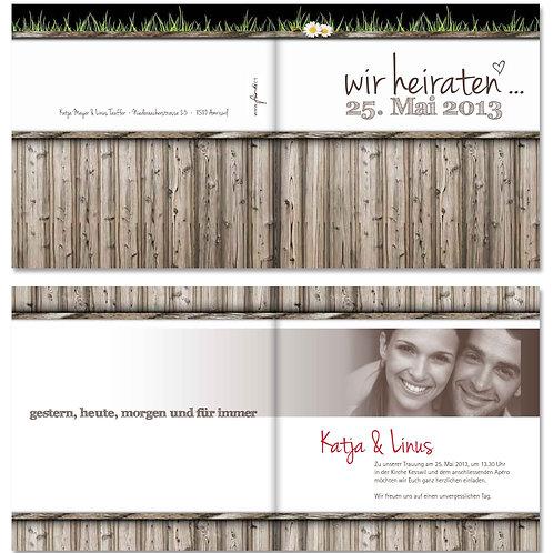 Hochzeitskarte Katja-Linus