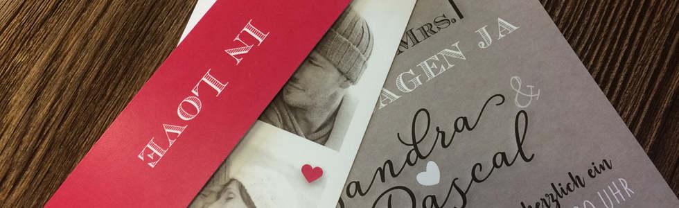 Individuelle Hochzeitskarten gestalten l online l Schweiz