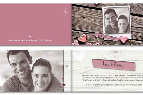 Hochzeitskarte Lina-Bruno