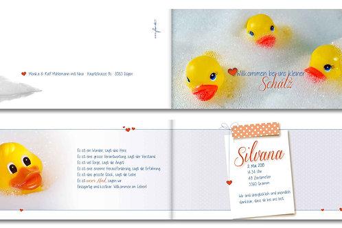 Geburtskarte Silvana
