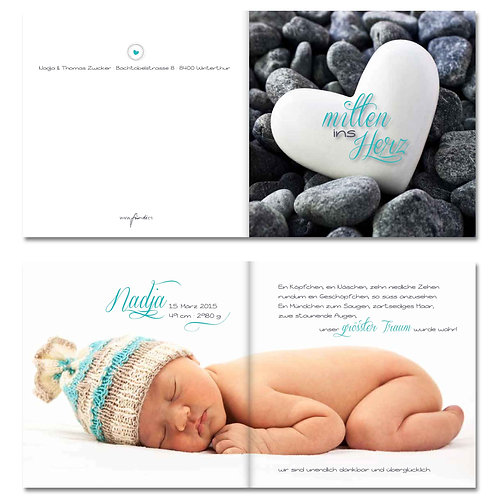 Geburtskarte Nadja