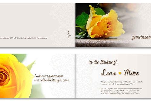 Hochzeitskarte Lena-Mike