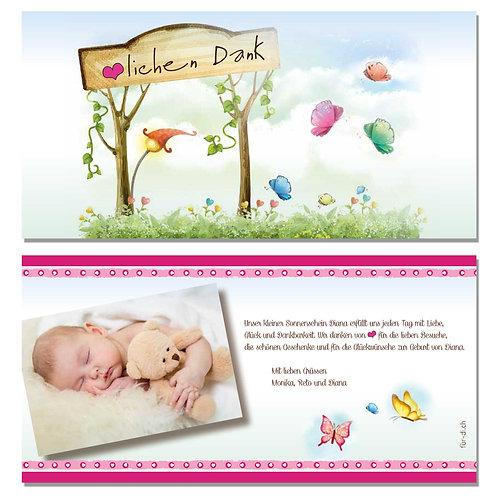 Dankeskarte Diana