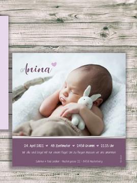 Geburtskarte Anina